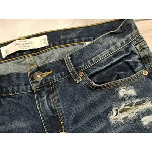 Abercrombie & Fitch Emma Jeans Distressed 8 Long